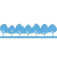 Marianne Design Stempling og prægning stencil, Allee Træer