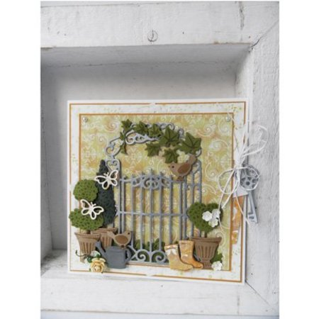 Marianne Design Stanz- und Prägeschablonen, Topfpflanzen Set