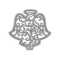 Taglio e goffratura stencil, angelo in filigrana