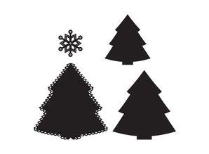 Marianne Design Stanz- und Prägeschablonen: Weihnachtsbaum und Eiskristall