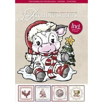 Bastelbuch mit Stickvorlagen, Weihnachtsmotive