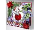 Wild Rose Studio`s Transparent Stempel, Bella auf Weihnachtskugel