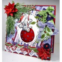 Transparent Stempel, Bella auf Weihnachtskugel