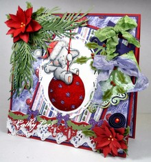 Wild Rose Studio`s Transparent stamps, Bella on Christmas ball