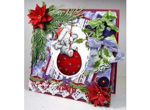 Wild Rose Studio`s Gennemsigtige frimærker, Bella på julen bold