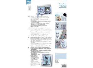 BASTELZUBEHÖR / CRAFT ACCESSORIES Stempel linned, hvid, A4, 10 ark