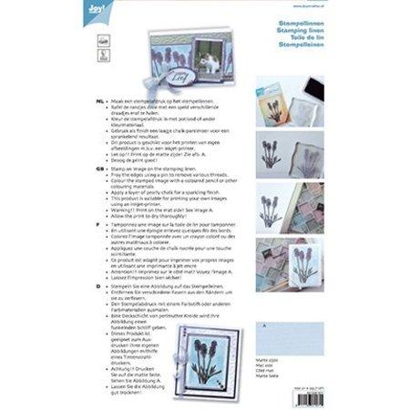 BASTELZUBEHÖR / CRAFT ACCESSORIES Stempel linned, hvid, A4, 10 ark
