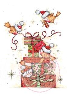 Wild Rose Studio`s Gennemsigtige frimærker, Robins til gaver