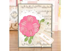 Spellbinders und Rayher Punching and embossing templates Shapeabilities, romantic flowers