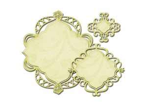 Spellbinders und Rayher Cutting and embossing stencils Nestabilities, Decorative fancy diamond