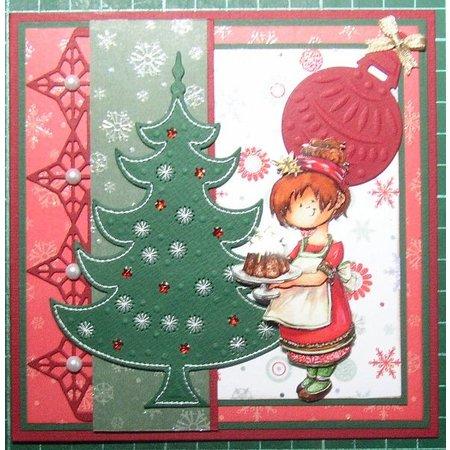 Joy!Crafts und JM Creation Joy Crafts, stansning og prægning & Embroideryschablone, 6002 2008, juletræ