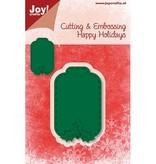 Joy!Crafts und JM Creation Skæring og prægning stencils, label
