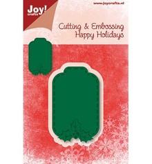 Joy!Crafts und JM Creation Taglio e goffratura stencil, etichetta