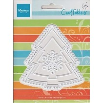 Punching and embossing templates: Christmas tree and snowflake