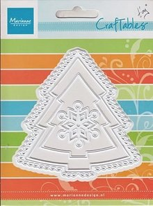 Marianne Design Punching and embossing templates: Christmas tree and snowflake