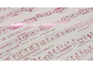 BASTELZUBEHÖR / CRAFT ACCESSORIES Blu metallizzato lamina e rosa