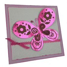BASTELZUBEHÖR / CRAFT ACCESSORIES Blu metallizzato lamina e rosa
