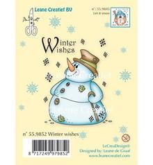 Leane Creatief - Lea'bilities Transparent stamps, snowman