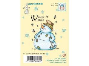 Leane Creatief - Lea'bilities Gennemsigtige frimærker, snemand