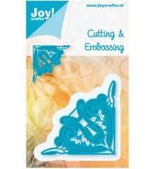 Joy!Crafts und JM Creation Stempling og prægning stencil, hjørne