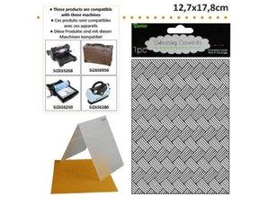 embossing Präge Folder Prægning mapper med fletning