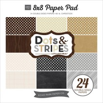 Designerblock mit Punkten und Streifen