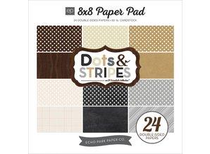 Carta Bella und Echo Park Designersblock with dots and stripes