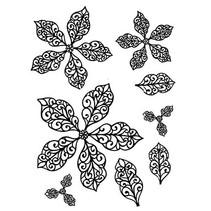 Sello de goma, flores Weihnachtsstern-, elegante