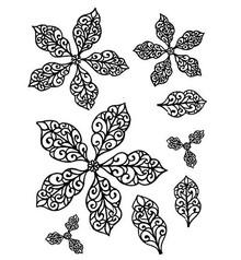 Creative Expressions Gummi Stempel, Weihnachtsstern- Blumen, elegant