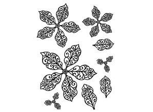 Creative Expressions Rubber stamp, Weihnachtsstern- flowers, elegant