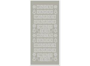 Sticker Adesivi, figure per le calze di Natale, argento silver