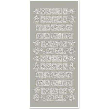 Sticker Pegatinas, las cifras de las medias de Navidad, plata y plata
