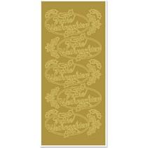 Sticker, Buon Natale, oro