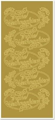 Sticker Sticker, Merry Christmas, gold