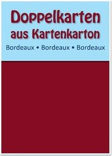 KARTEN und Zubehör / Cards 10 dobbeltværelser kort A6, claret, 250 g / kvm