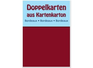 KARTEN und Zubehör / Cards 10 carte doppie A6, chiaretto, 250 g / mq