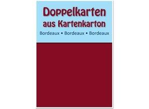 KARTEN und Zubehör / Cards 10 tarjetas dobles A6, clarete, 250 g / m²