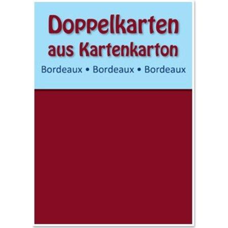KARTEN und Zubehör / Cards 10 dubbele kaarten A6, claret, 250 g / m²