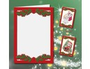 KARTEN und Zubehör / Cards 5 double cards A6, Passepartout - Christmas cards, embossed red