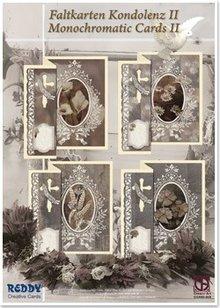 BASTELSETS / CRAFT KITS: Condolencias plegables para 4 tarjetas + sobres