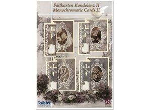 BASTELSETS / CRAFT KITS: Folding Condolences for 4 cards + envelopes