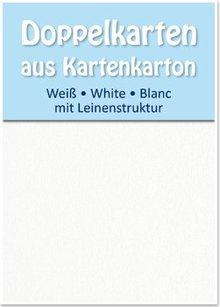 KARTEN und Zubehör / Cards 5 Satin double cards A6, both sides satin with linen texture