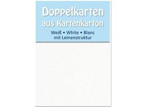 KARTEN und Zubehör / Cards 5 satén dobles tarjetas A6, ambas partes satén con textura de lino