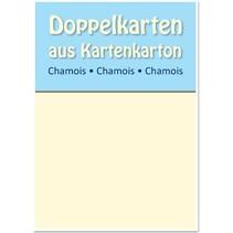 10 satén tarjetas dobles A6, Chamois