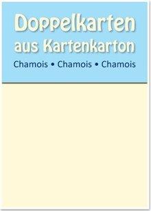 KARTEN und Zubehör / Cards 10 Satin doppie schede A6, Chamois