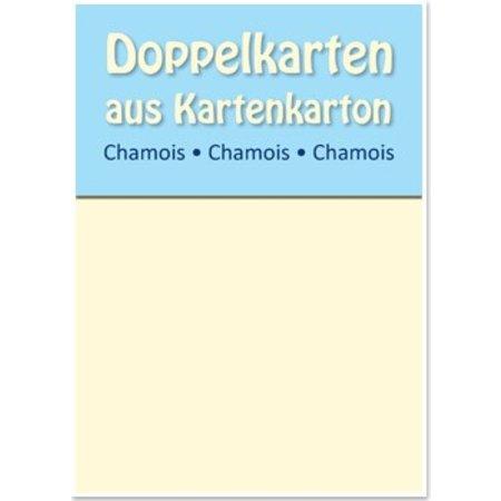 KARTEN und Zubehör / Cards 10 Satin double cards A6, Chamois