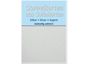 KARTEN und Zubehör / Cards 10 Satin dobbelt kort A6, sølv, satin finish på begge sider