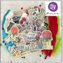 Chipboard stickers & more Bella rouge