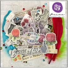Prima Marketing und Petaloo Chipboard stickers & more Bella rouge
