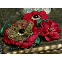 Petaloo Blumen, rot